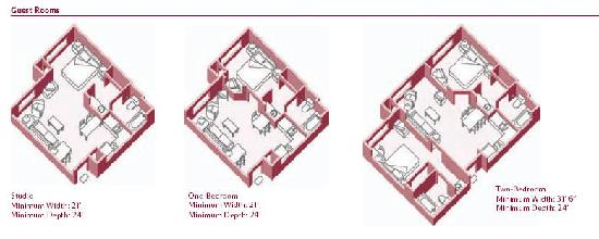 Residence Inn Gulfport-Biloxi Airport: Sleeping Room Diagram