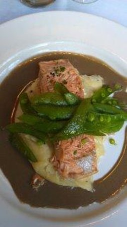 JoJo: Slowly Baked Salmon truffled mashed potatoes and fresh green beans