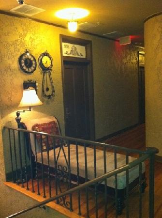 The Campbell Hotel: The entrance to my friends room.