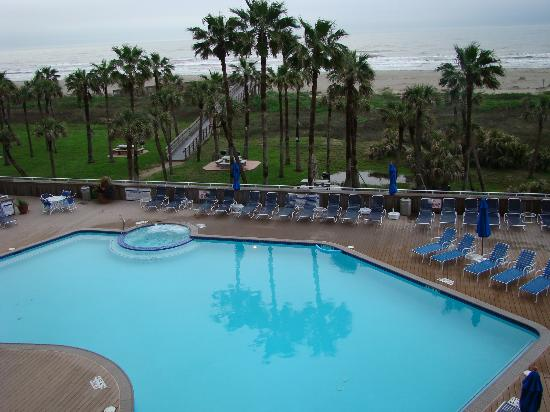 The Galvestonian: pool as seen from balcony