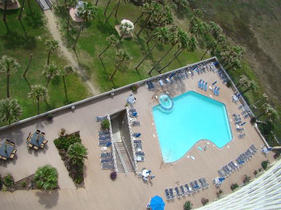 The Galvestonian: pool from 12th floor balcony