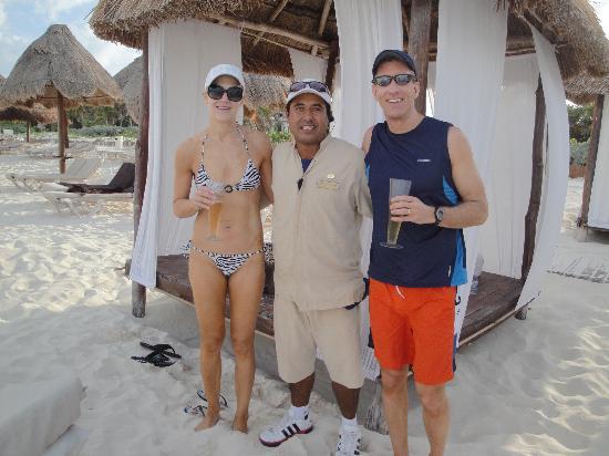 Secrets Maroma Beach Riviera Cancun: Our Beach Bed Concierge - Alejandro