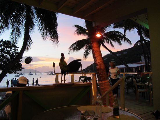 Elm Beach Bar : View from the Elm at sunset