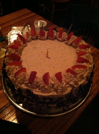 Coyote Grill: my birthday cake!!!