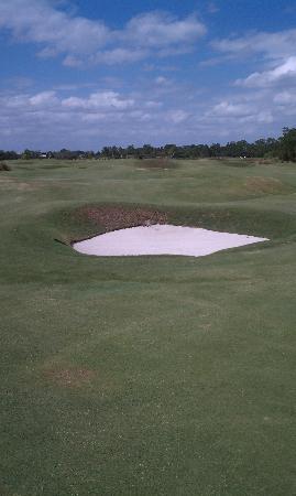 Grand Cypress Golf Club: A bunker beckons my golf ball