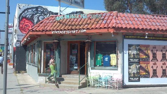 Glitterati Tours: Cool shops line Melrose Avenue east of Fairfax, like this vintage T-shirt store.