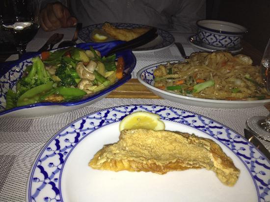 Fishmarket : Hamour Fillet with Noodles