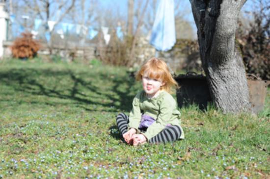 La Noyeraie: Relaxing in the gardens