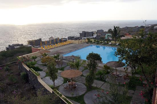 Fogo, Cape Verde: pool from my room