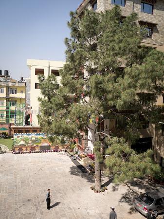 Hotel Tibet International: Innenhof