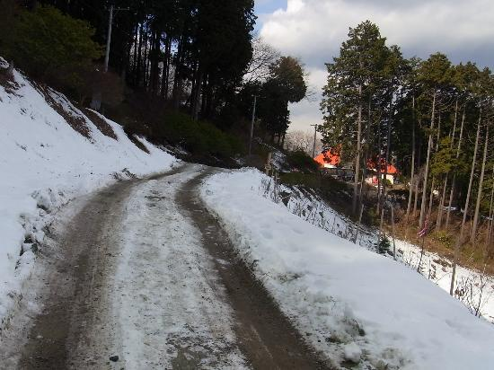 Nagatoro-machi, Japan: 雪の登山道