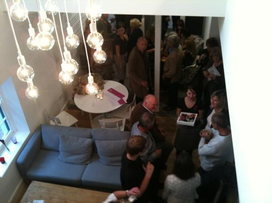 Plymouth Arts Centre Cafe Bar: view of downstairs via atrium