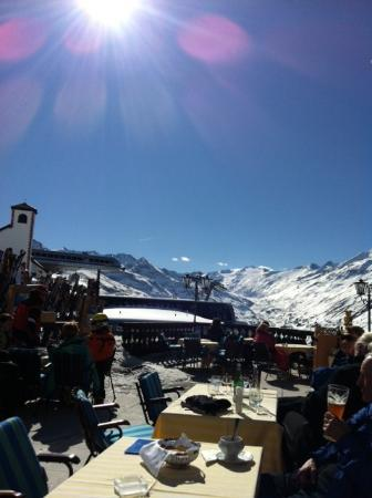 Top Hotel Hochgurgl: View from the terras