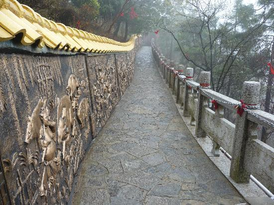 Guilin Yaoshan Mountain Scenic Resort : Prayer ribbons tied to trees