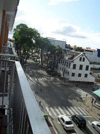Hotel Krasnapolsky : View of the street from my balcony