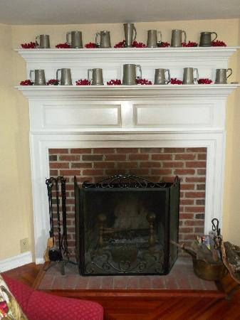 The Snuggery Bed & Breakfast : Fireplace in parlor