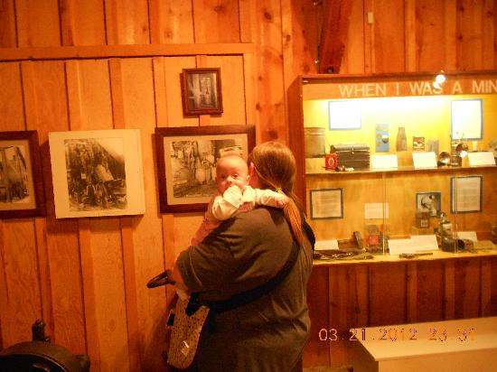 Western Museum of Mining and Industry: Lots of interesting displays for mom and baby.