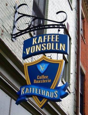 Cafe Vonsolln: Outside Sign
