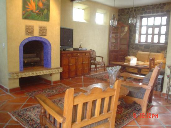 Quinta del Sol: Sala fireplace and reading room