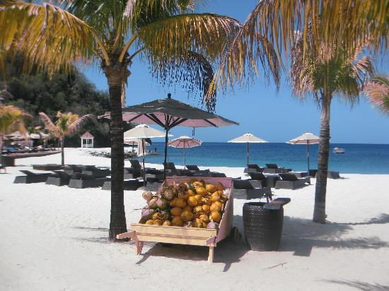 Buccament Bay Resort: View from a beach cabana