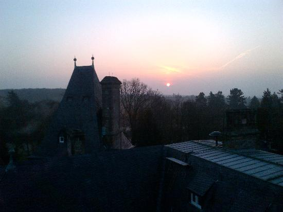 Schloss Hotel Kronberg: Sunrise from balcony