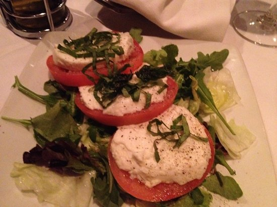 Ruth's Chris Steak House: tomato salad pretty but lacked flavor