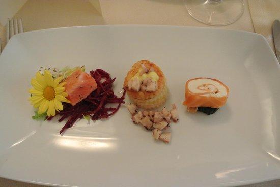 Muralto, Switzerland: Uno degli antipasti del menu di Natale 2011