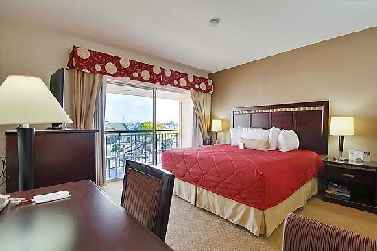 Ramada San Diego Airport: harbor view king bed