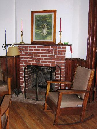 Bellevue Cottage B&B : Cozy Fireplace