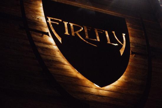 Hotel Firefly: Firefly signage.
