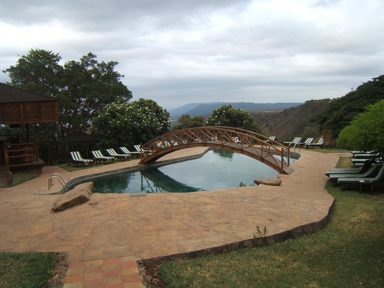 Lake Manyara Wildlife Lodge: Pool area