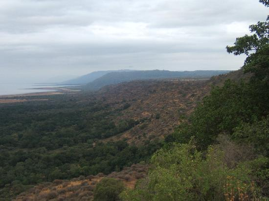 Lake Manyara Wildlife Lodge: View over the lake