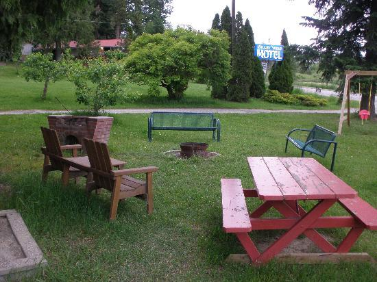 ‪‪Valley View Motel‬: Barbecue/Picnic area - nice!‬