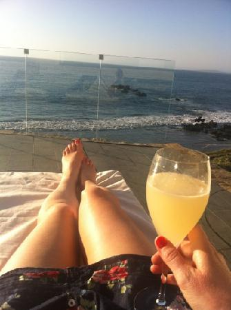 Casadoca Hotel Boutique : watching the sun set on the terrace
