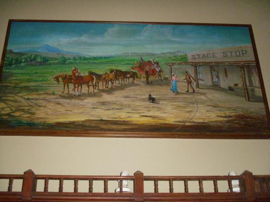 Stage Stop Inn: Original painting of the Inn--above the registration desk
