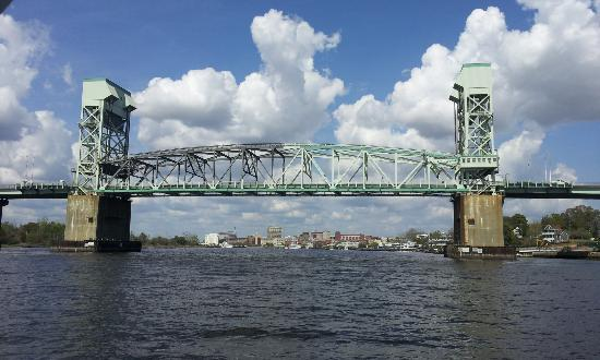 Wilmington, NC: View of one of the bridges from the water tour