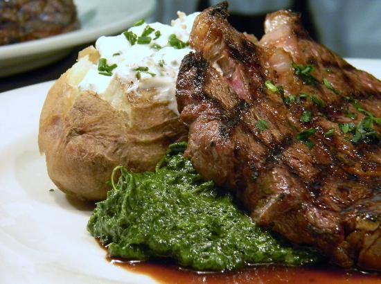 The Breakaway Cafe: Rib Eye Steak, Creamed Spinach