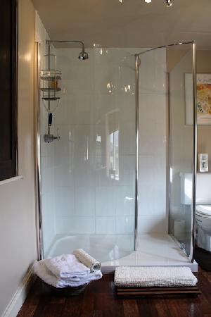 Corston Fields Farm : Mahogany Room walk-in shower