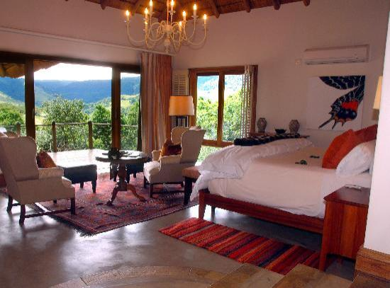Karkloof Safari Spa: Villa with a view of the Karkloof Valley