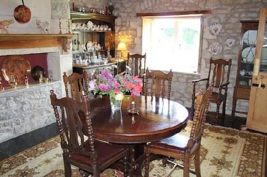 Corston Fields Farm: The dining room where breakfast's served