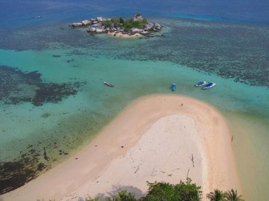 Belitung Island, Indonesia: The view from Lengkuas Lighthouse