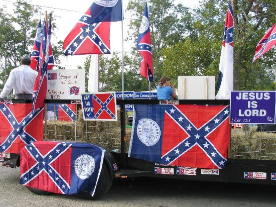 Jesup, GA: One of the floats in the annual Odum Days Parade