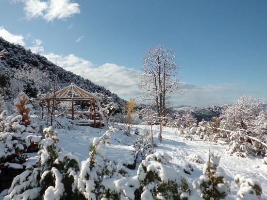 El CastaNar Nazari: Vues d'une journée enneigée