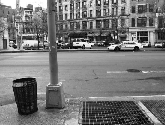 Hilton Garden Inn New York/Tribeca: Standing in front of the hotel