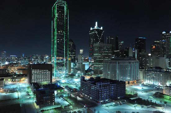 View from room at night picture of omni dallas