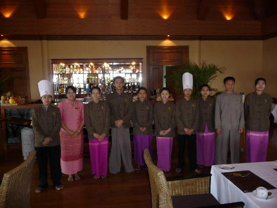 Aureum Palace Resort & Spa Inle : The best hotelstaff on our trip to Myanmar