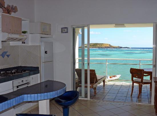 """Hotel Les Ondines Sur La Plage: La suite """"Marine"""" à l'étage"""