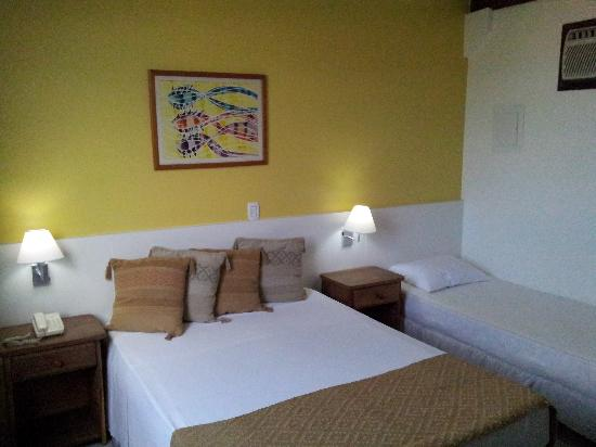 Hotel Coquille - Ubatuba: Luxo Apartment (1 double and 1 single bed)