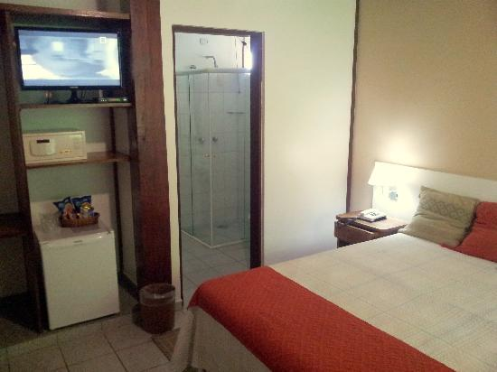"Hotel Coquille - Ubatuba: Superior Apartments have 27"" LED tv and Safe"