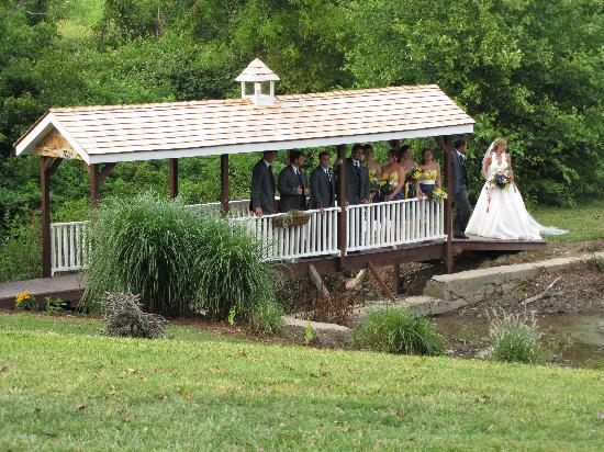 The Inn at Mitchell House: Our Covered Bridge is a great backdrop for wedding photos!